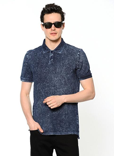 Calvin Klein Polo Yaka Tişört İndigo